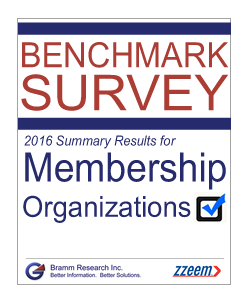 Benchmark Survey 2016 Summary Report for Membership Organizations